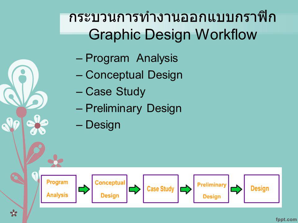 กระบวนการทำงานออกแบบกราฟิก Graphic Design Workflow