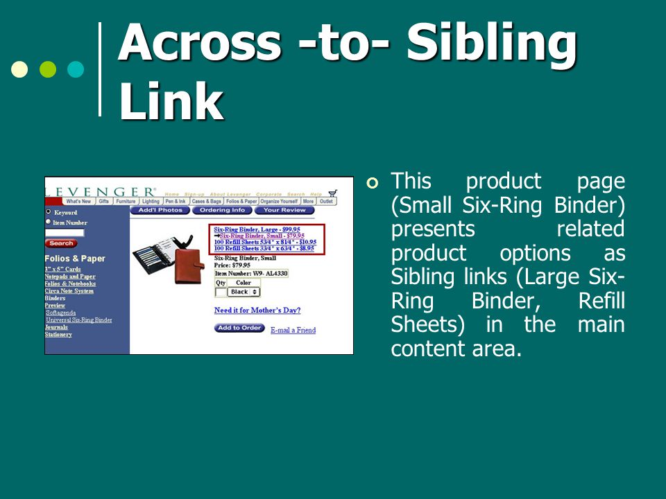 Across -to- Sibling Link