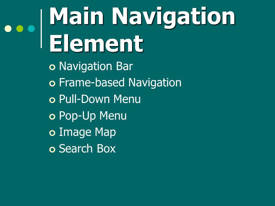 Main Navigation Element