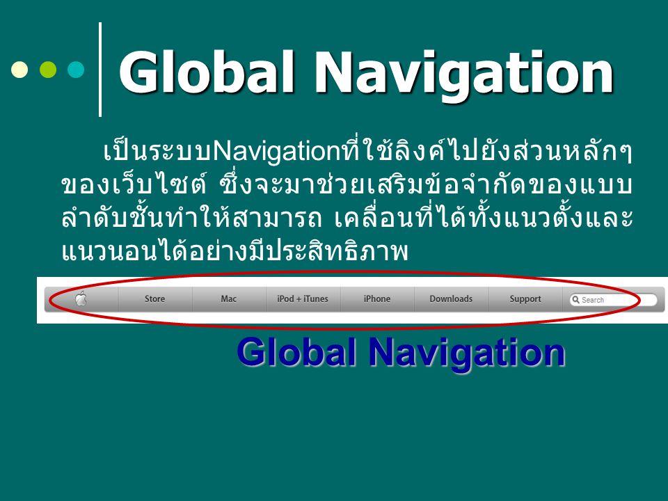 Global Navigation Global Navigation
