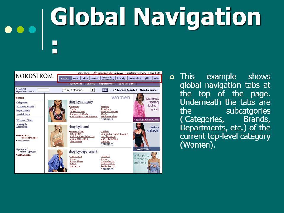 Global Navigation :