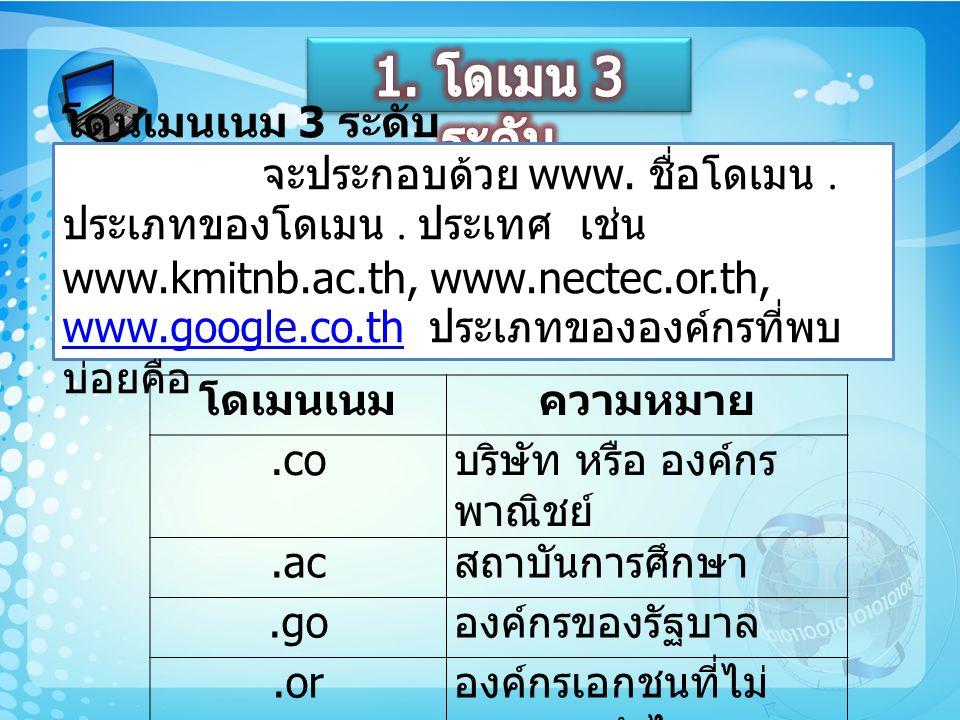 1. โดเมน 3 ระดับ
