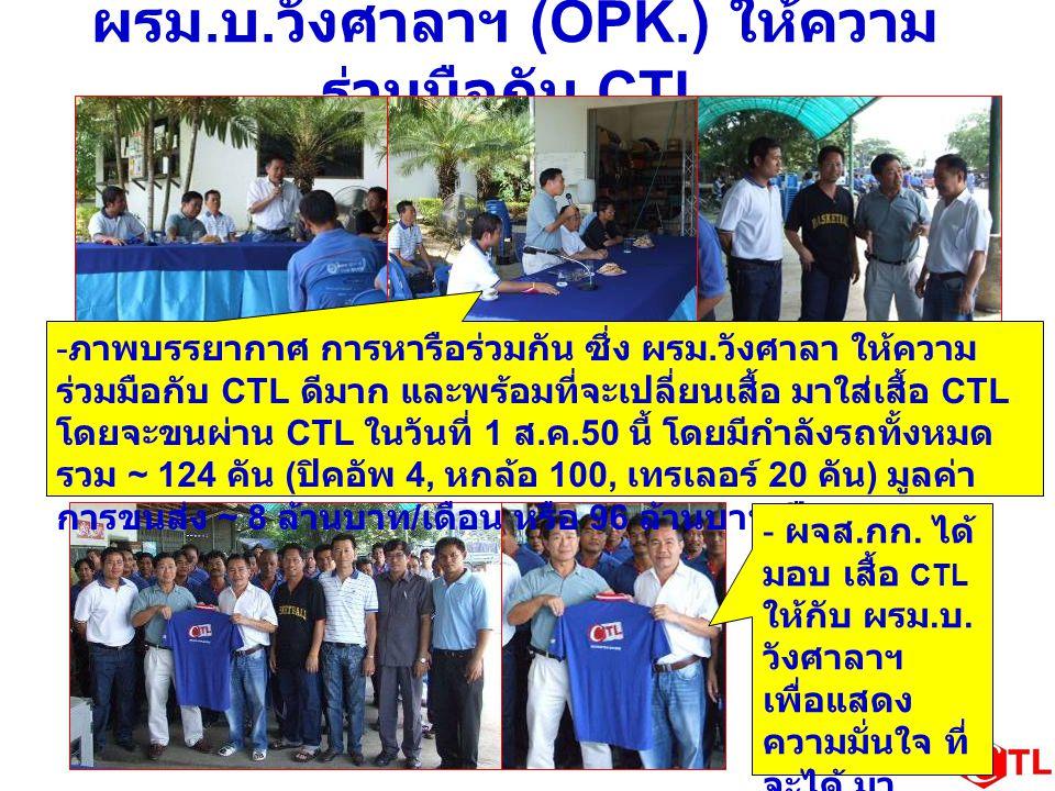 ผรม.บ.วังศาลาฯ (OPK.) ให้ความร่วมมือกับ CTL