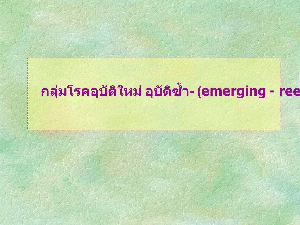 กลุ่มโรคอุบัติใหม่ อุบัติซ้ำ- (emerging - reemerging infection)