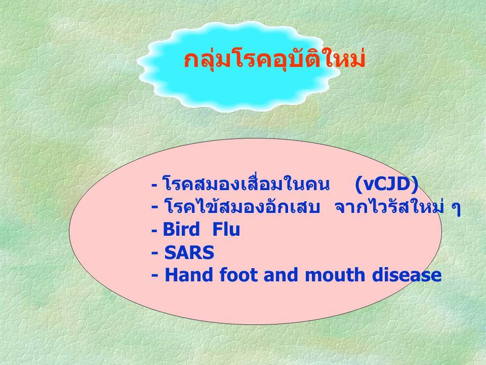 กลุ่มโรคอุบัติใหม่ - โรคสมองเสื่อมในคน (vCJD)