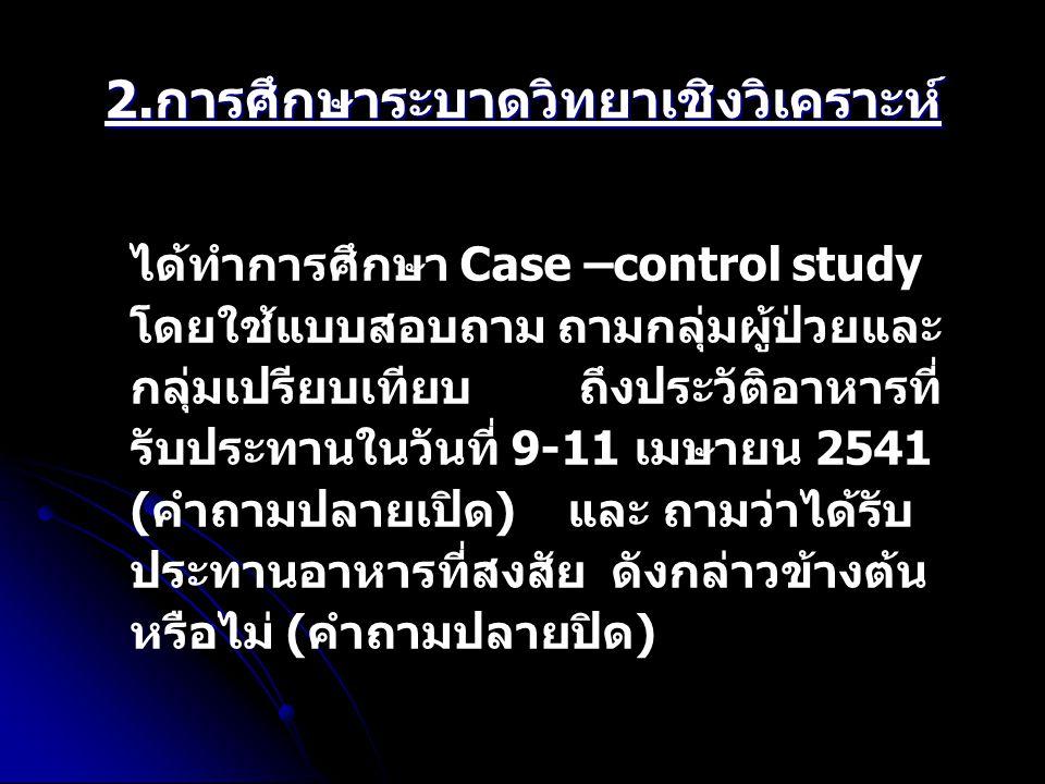 2.การศึกษาระบาดวิทยาเชิงวิเคราะห์