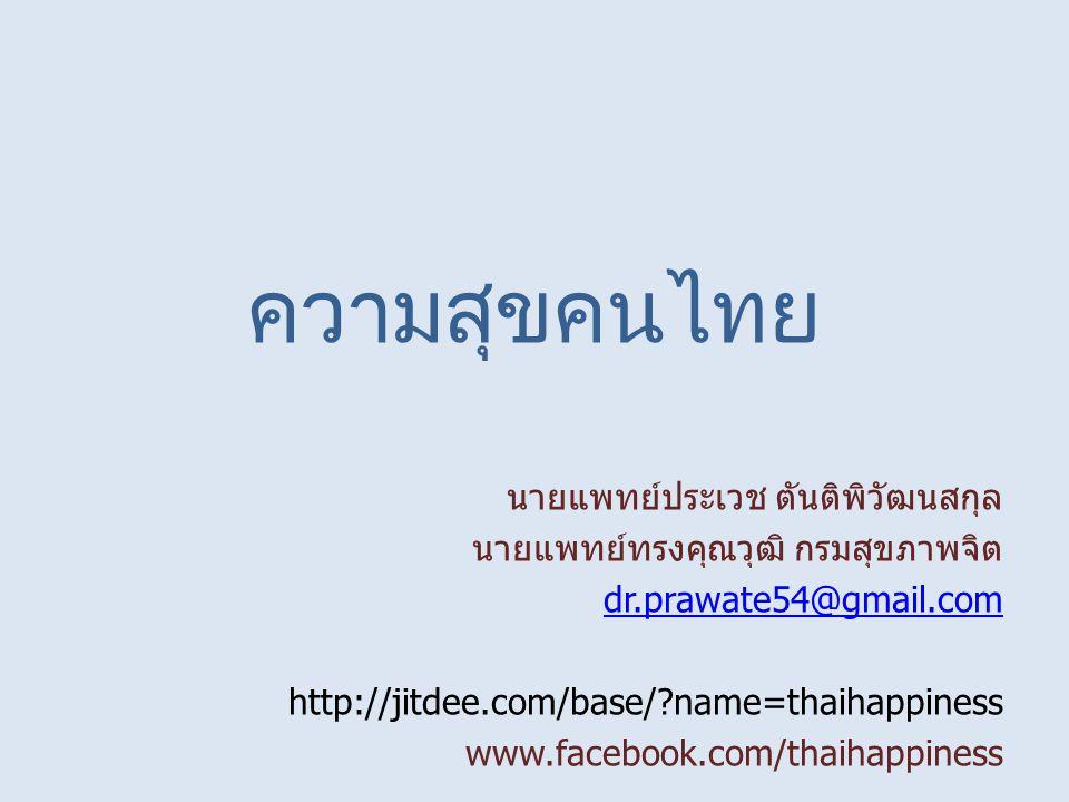 ความสุขคนไทย นายแพทย์ประเวช ตันติพิวัฒนสกุล