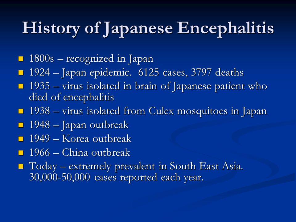 History of Japanese Encephalitis