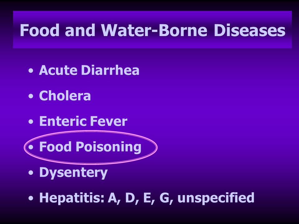Food and Water-Borne Diseases