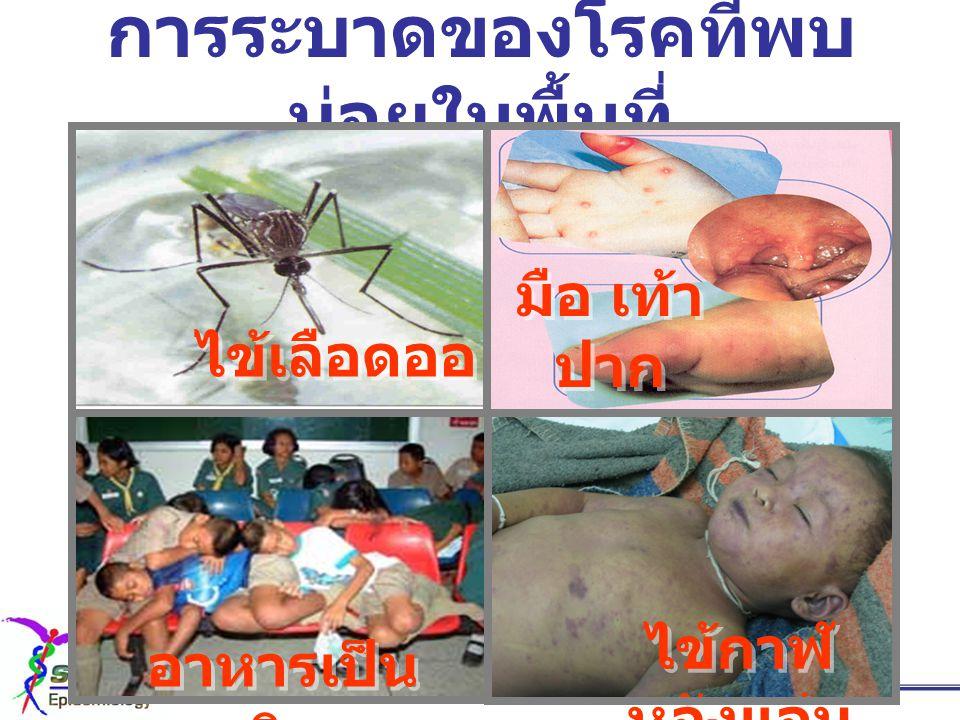 การระบาดของโรคที่พบบ่อยในพื้นที่