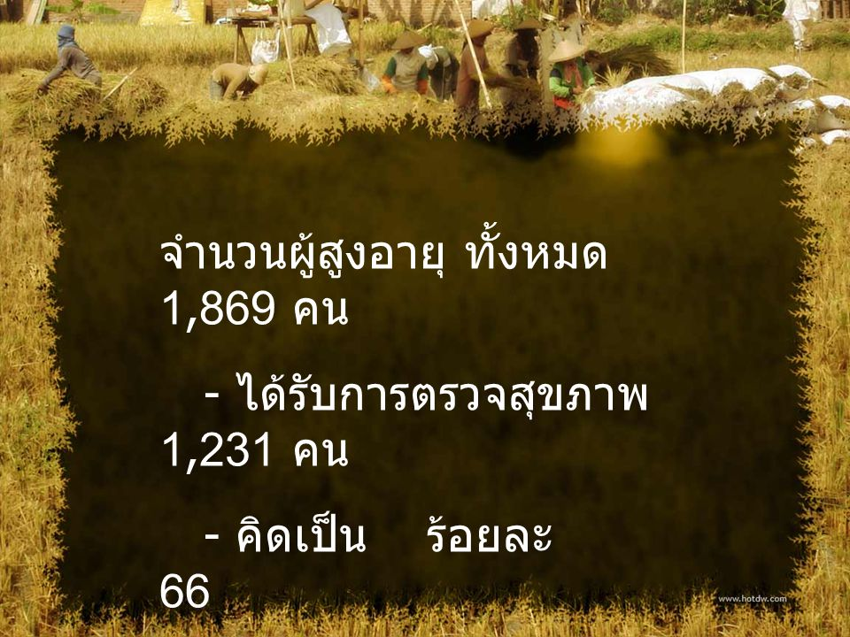 จำนวนผู้สูงอายุ ทั้งหมด 1,869 คน