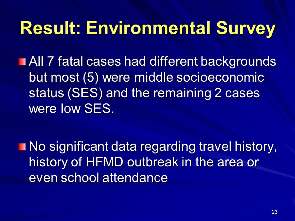 Result: Environmental Survey