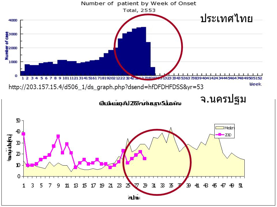 ประเทศไทย http://203.157.15.4/d506_1/ds_graph.php dsend=hfDFDHFDSS&yr=53 จ.นครปฐม ดรุณี โพธิ์ศรี