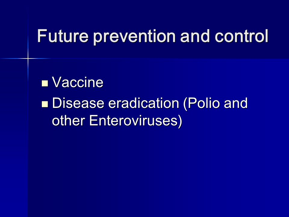 Future prevention and control