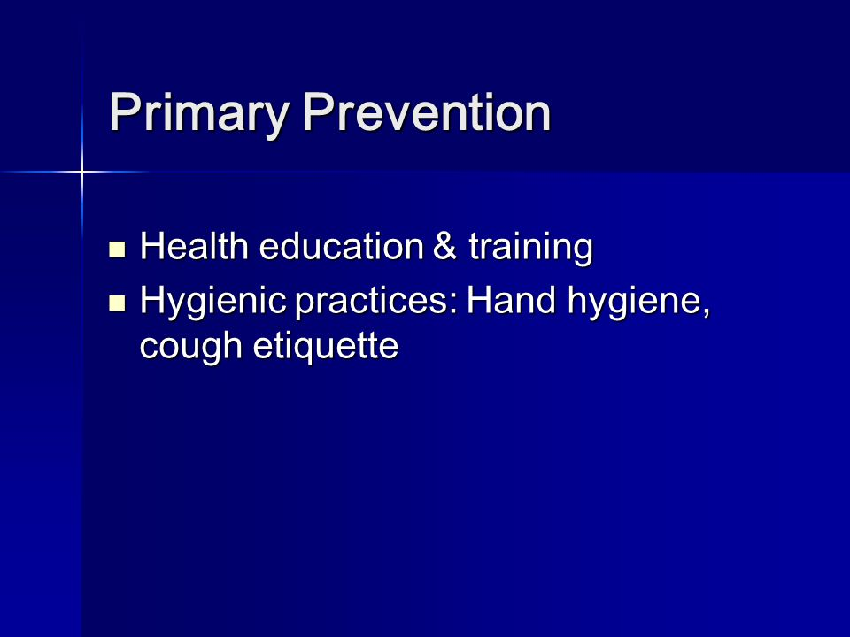 Primary Prevention Health education & training
