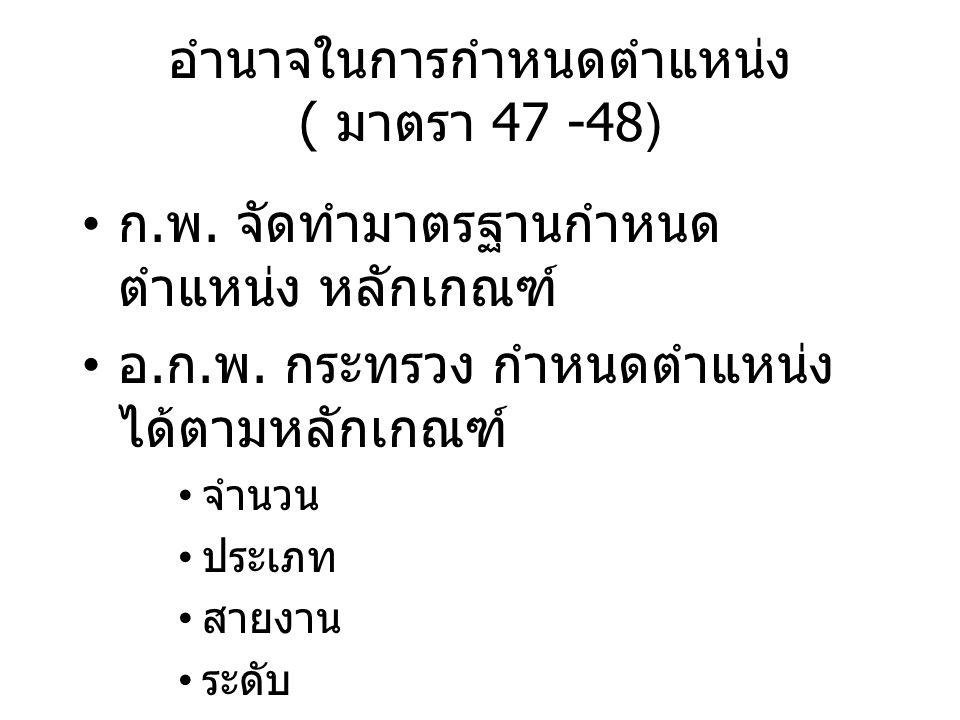 อำนาจในการกำหนดตำแหน่ง ( มาตรา 47 -48)