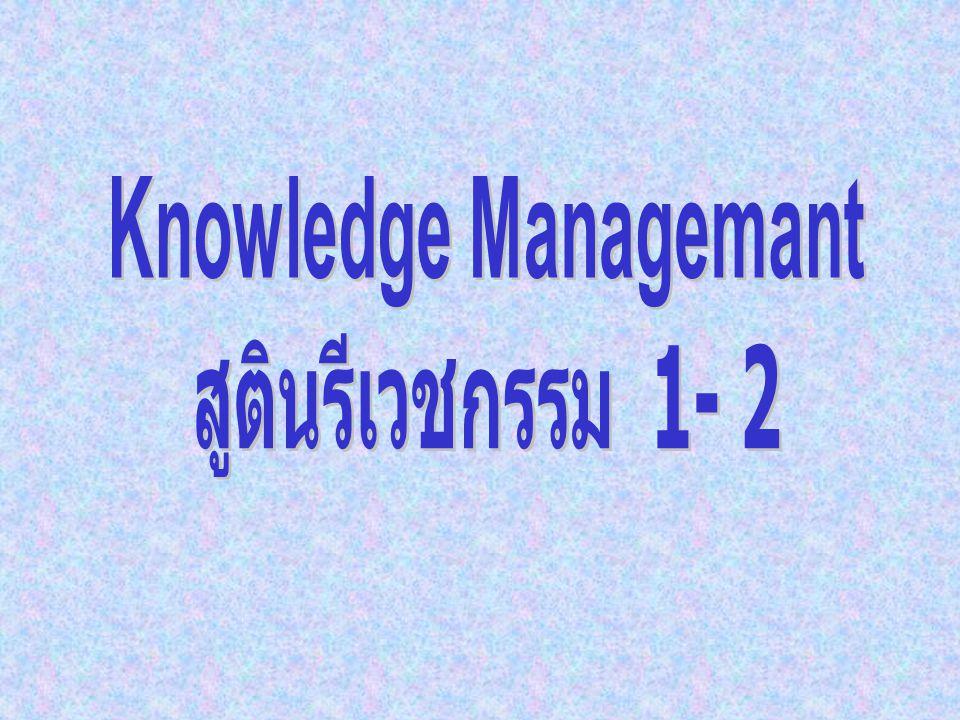 Knowledge Managemant สูตินรีเวชกรรม 1- 2