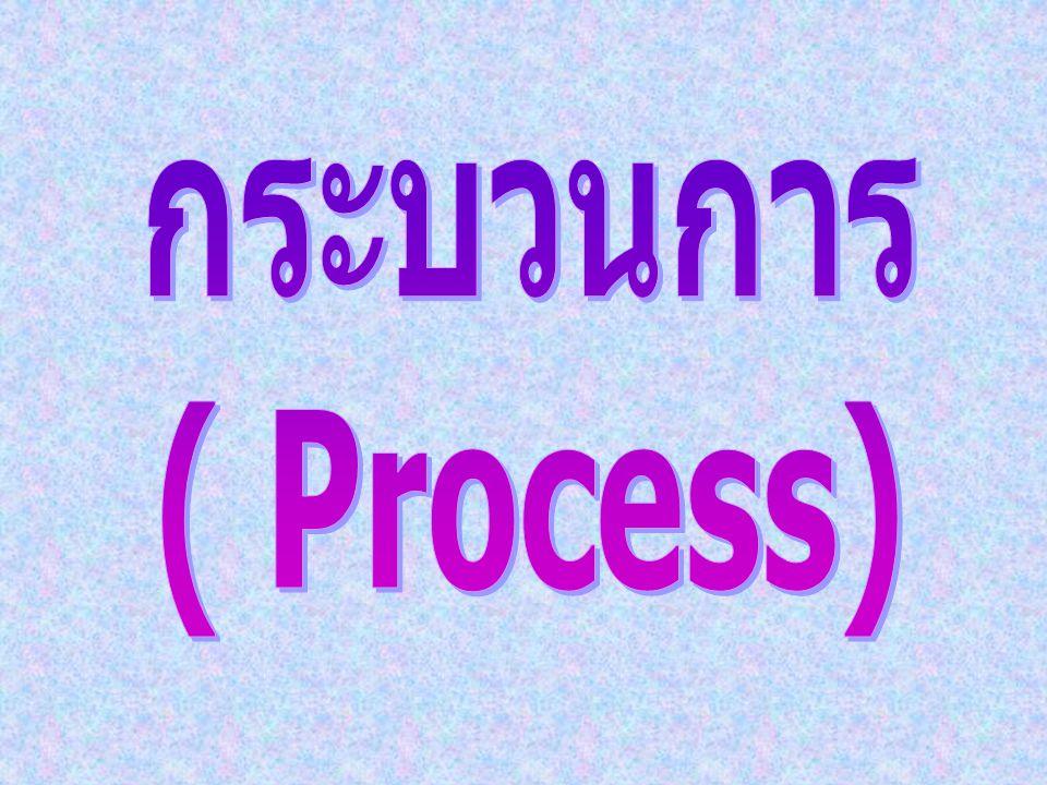 กระบวนการ ( Process)