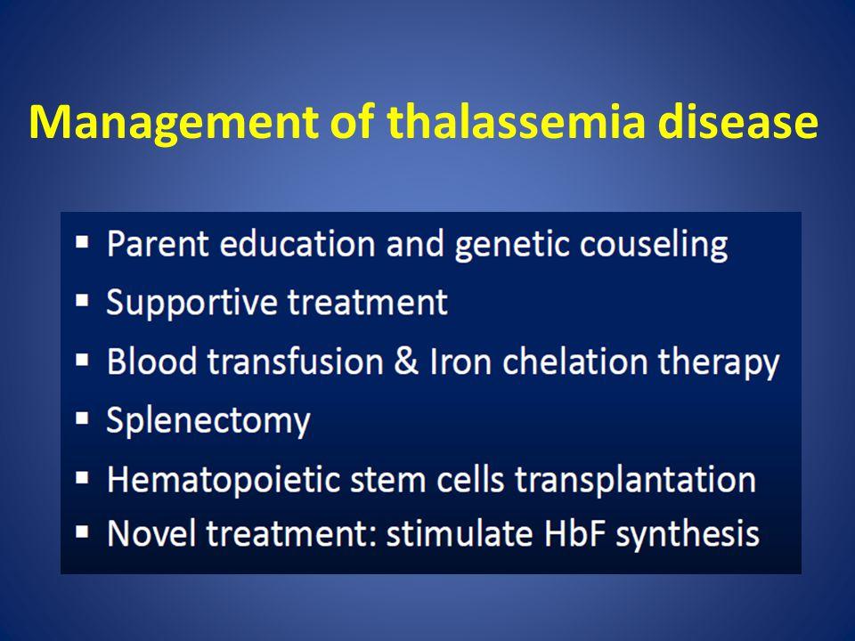 Management of thalassemia disease