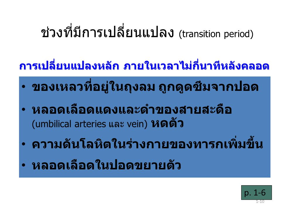 ช่วงที่มีการเปลี่ยนแปลง (transition period)