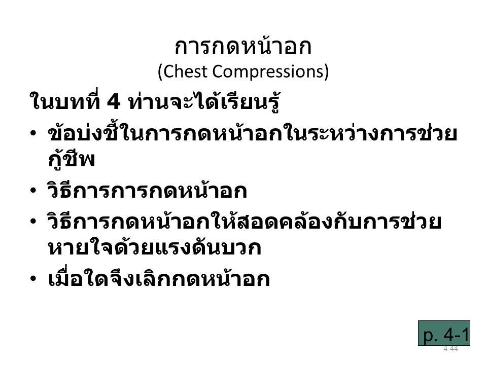 การกดหน้าอก (Chest Compressions)