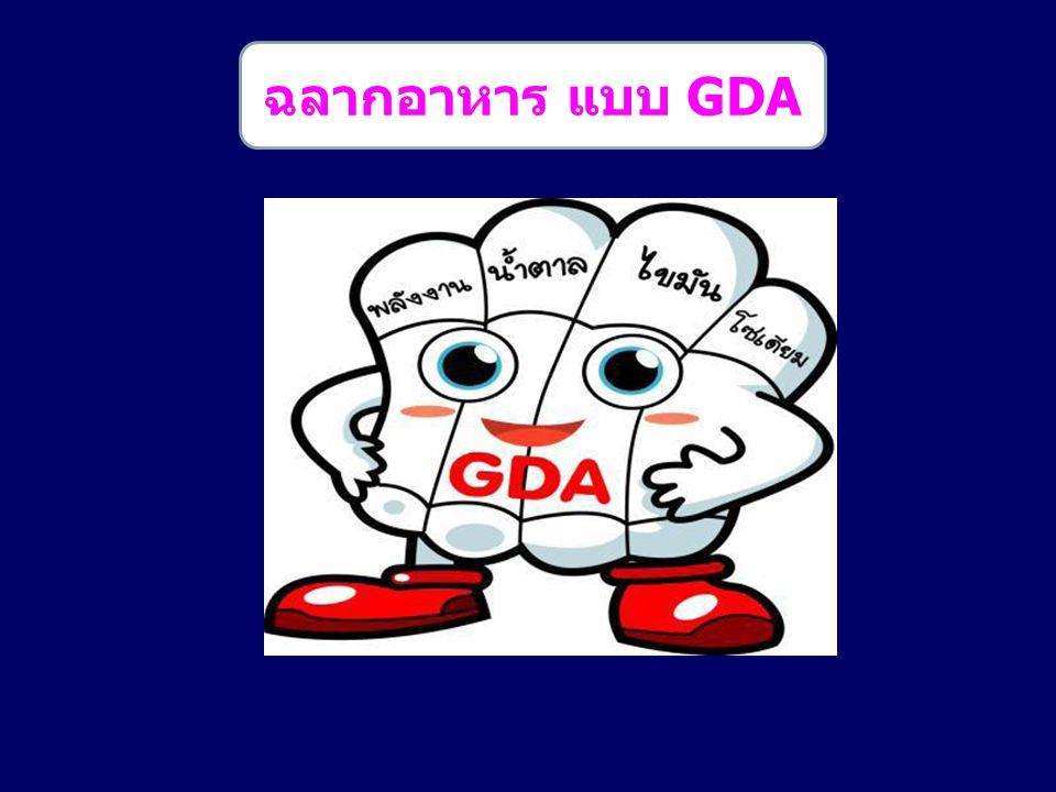 ฉลากอาหาร แบบ GDA