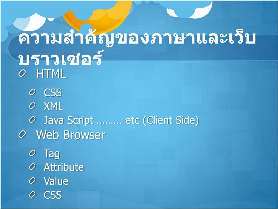 ความสำคัญของภาษาและเว็บบราวเซอร์