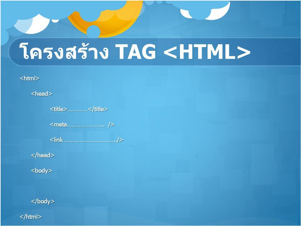 โครงสร้าง TAG <HTML>