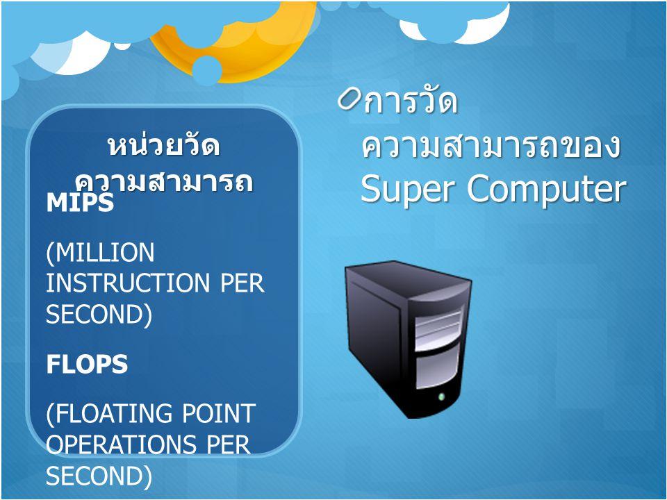 การวัดความสามารถของ Super Computer