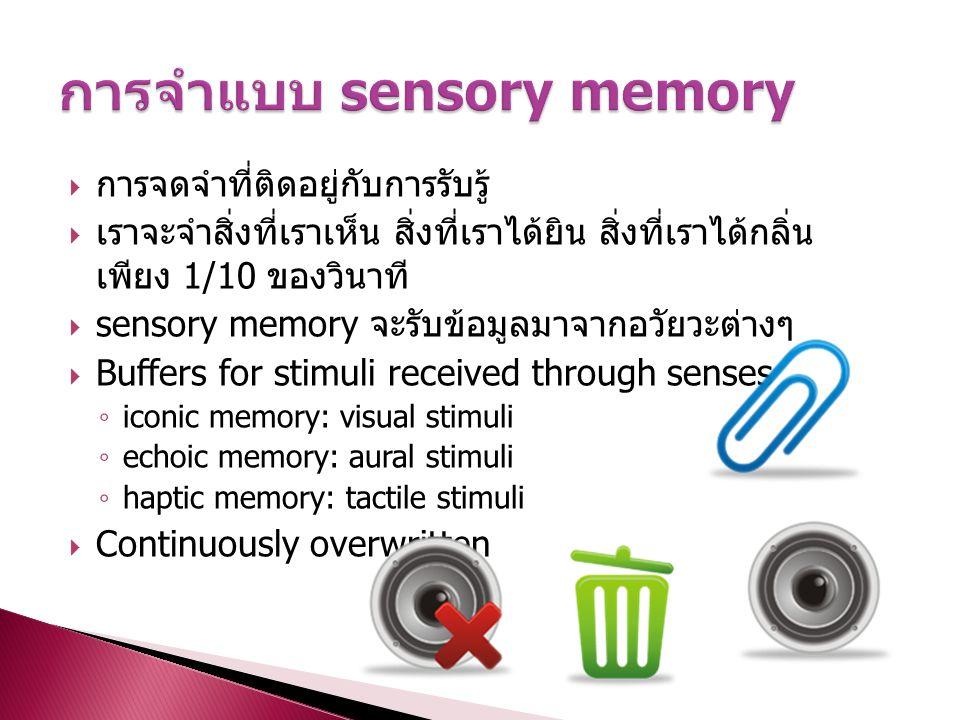 การจำแบบ sensory memory