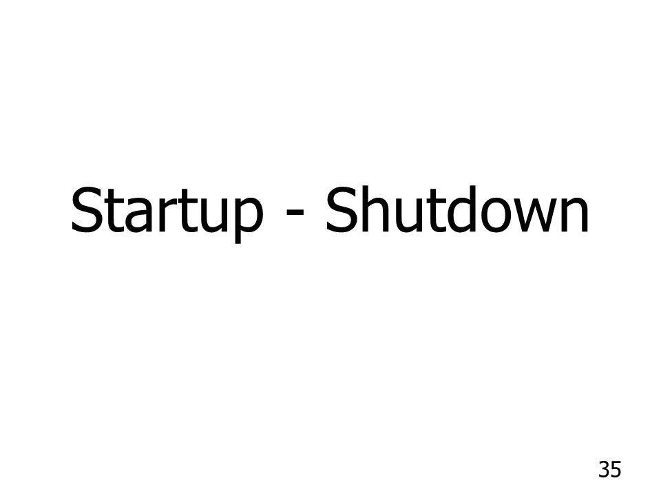 Startup - Shutdown