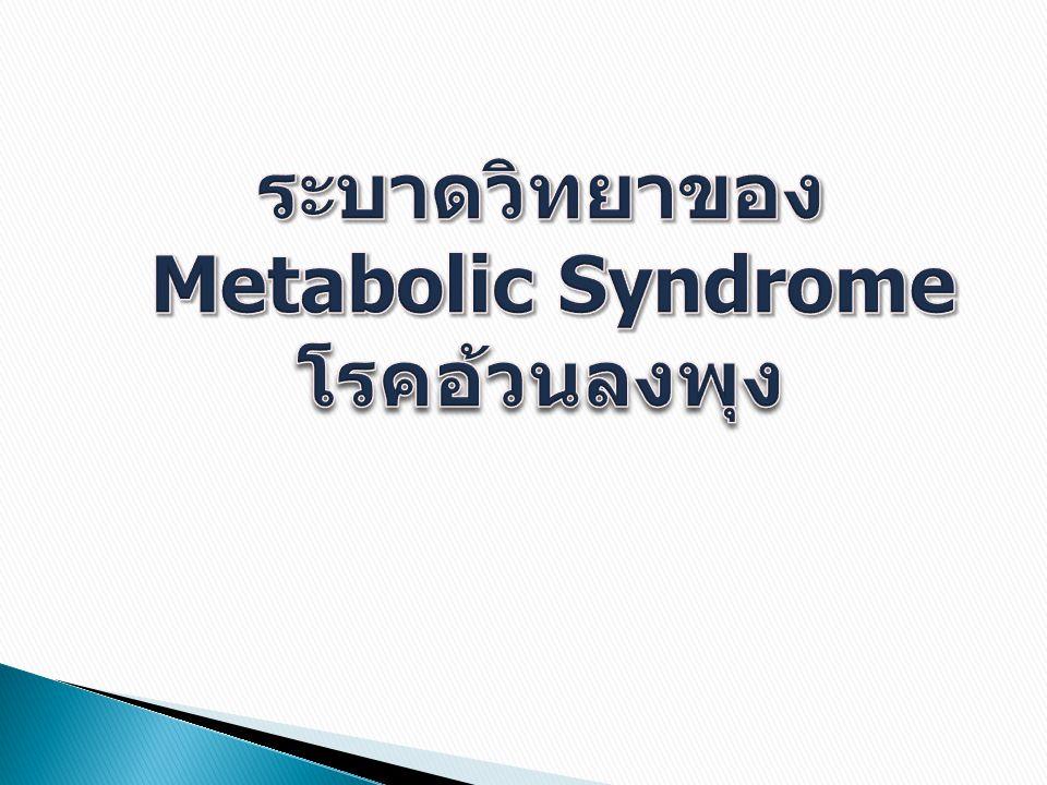 ระบาดวิทยาของ Metabolic Syndromeโรคอ้วนลงพุง