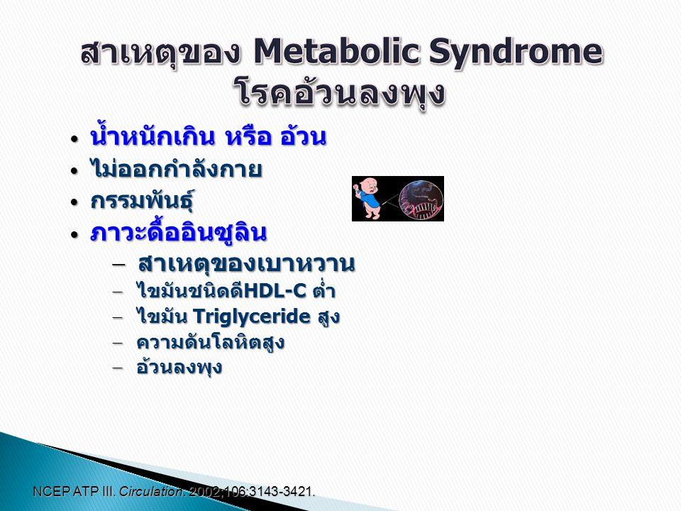 สาเหตุของ Metabolic Syndrome