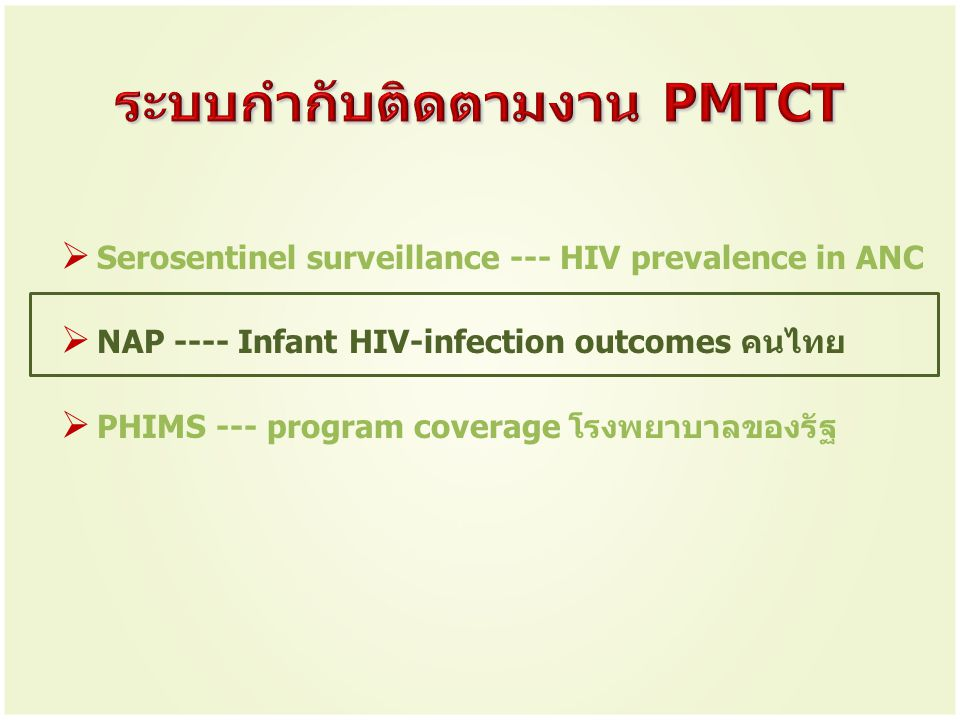 ระบบกำกับติดตามงาน PMTCT