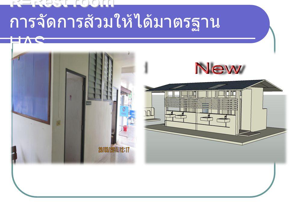 R=Rest room การจัดการส้วมให้ได้มาตรฐาน HAS