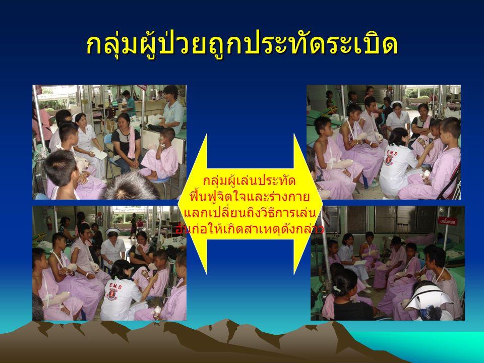 กลุ่มผู้ป่วยถูกประทัดระเบิด