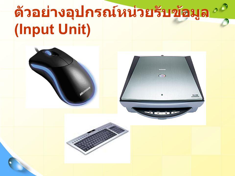 ตัวอย่างอุปกรณ์หน่วยรับข้อมูล (Input Unit)