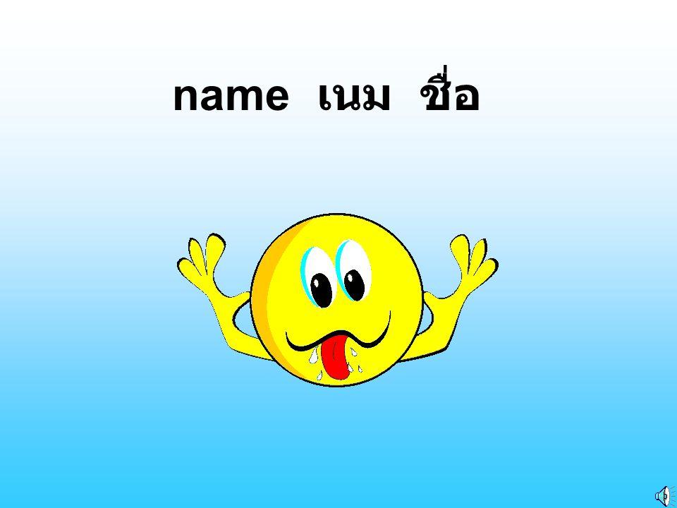 name เนม ชื่อ