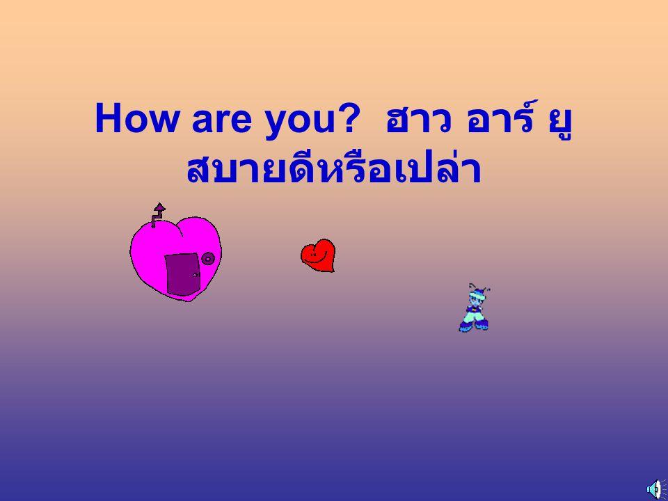 How are you ฮาว อาร์ ยู สบายดีหรือเปล่า
