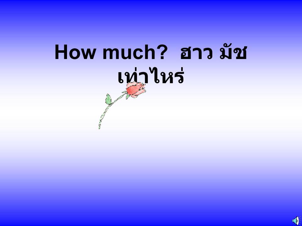 How much ฮาว มัช เท่าไหร่