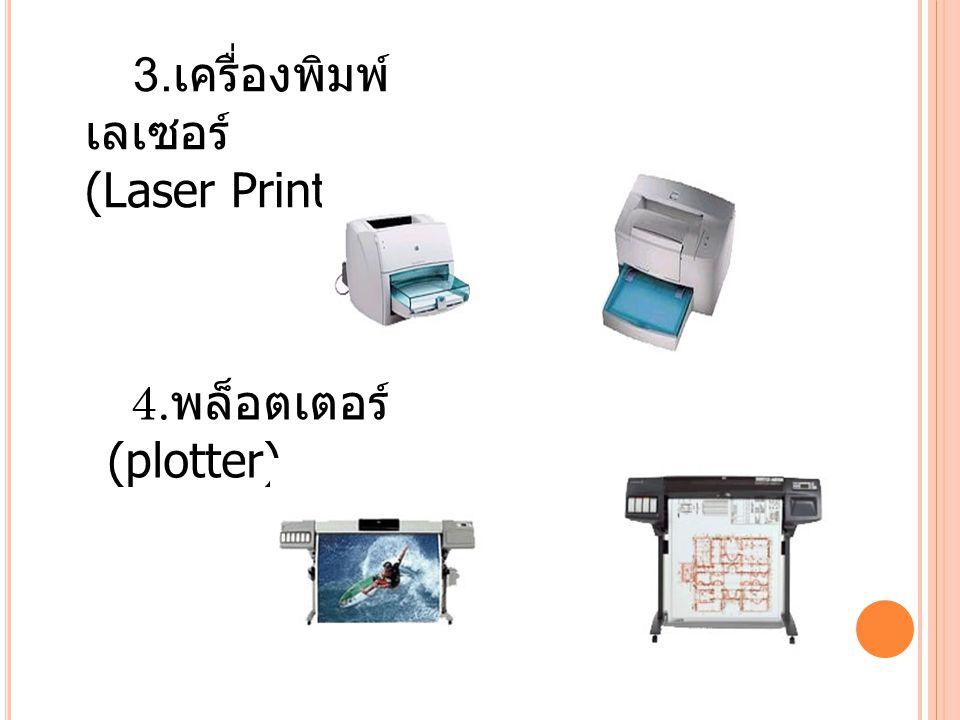 3.เครื่องพิมพ์เลเซอร์ (Laser Printer)