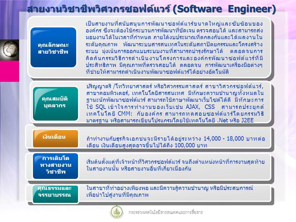สายงานวิชาชีพวิศวกรซอฟต์แวร์ (Software Engineer)