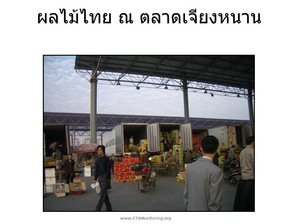 ผลไม้ไทย ณ ตลาดเจียงหนาน