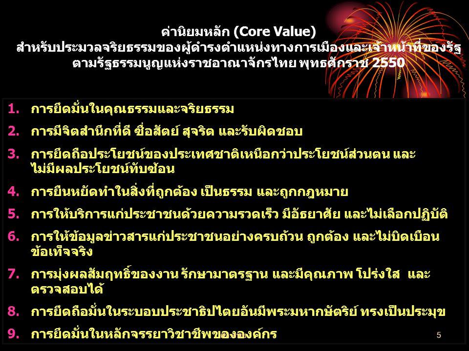 ค่านิยมหลัก (Core Value)