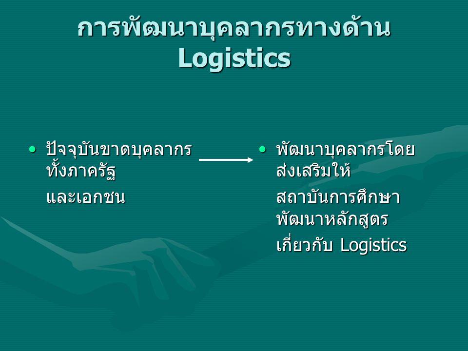 การพัฒนาบุคลากรทางด้าน Logistics
