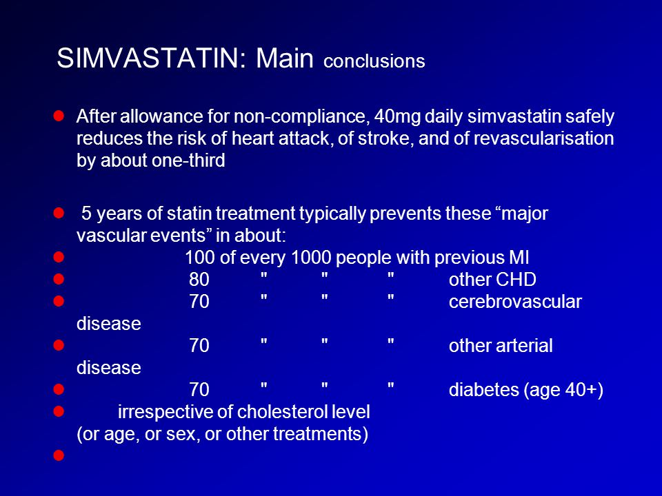 SIMVASTATIN: Main conclusions