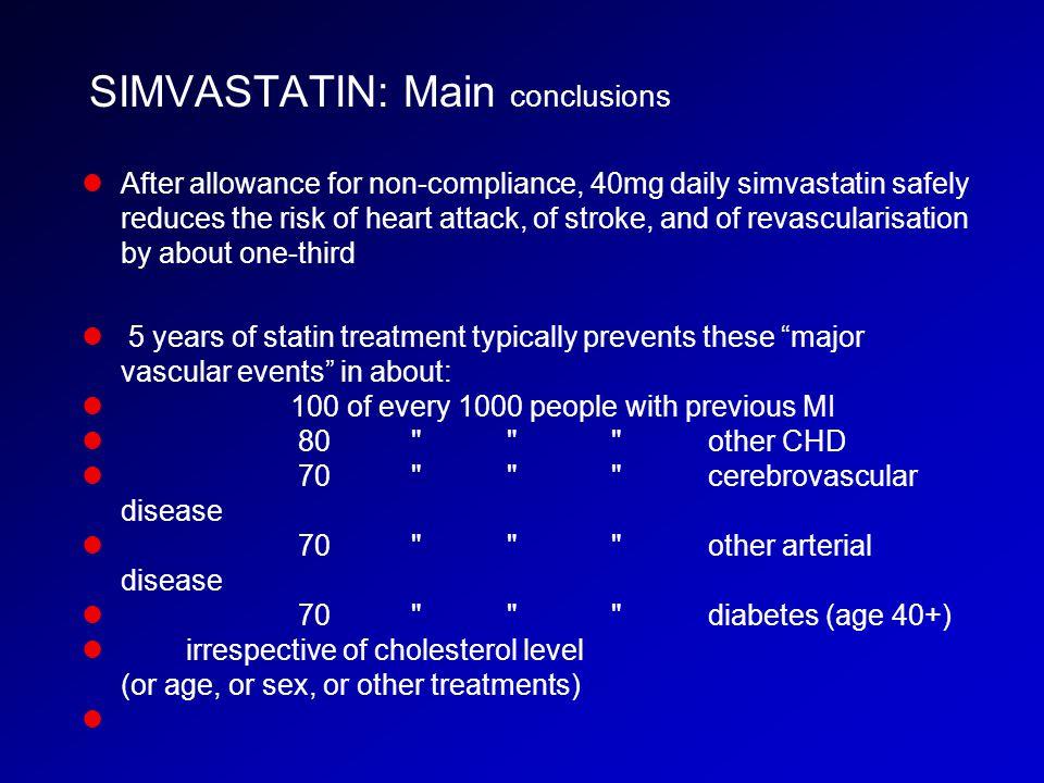 SIMVASTATIN: Main conclusions