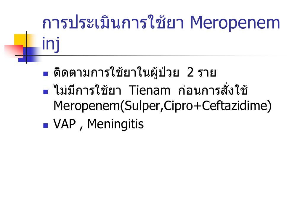 การประเมินการใช้ยา Meropenem inj