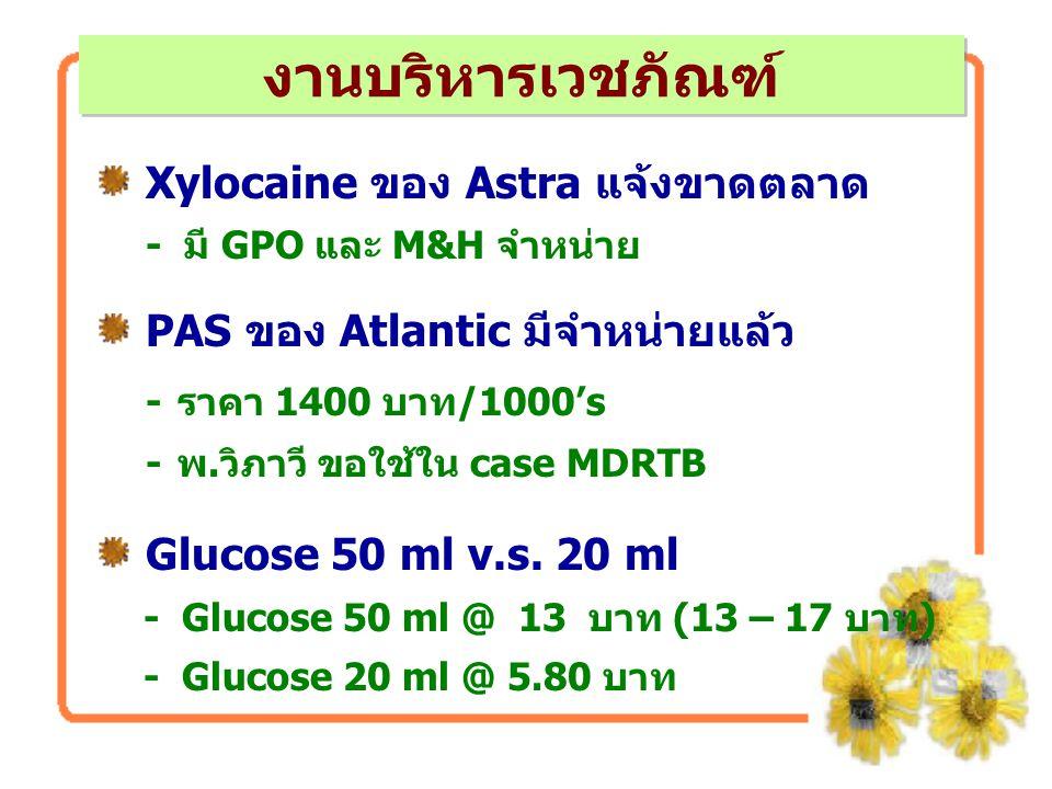 งานบริหารเวชภัณฑ์ Xylocaine ของ Astra แจ้งขาดตลาด