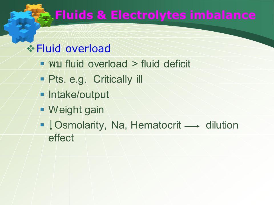 Fluids & Electrolytes imbalance